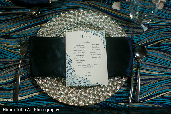 Indian wedding menu in El Paso, TX Indian Wedding by Hiram Trillo Art Photography