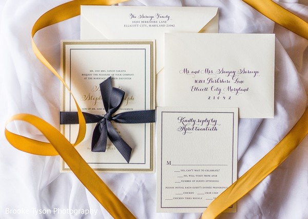 Stationery in Beltsville, MD Indian Fusion Wedding by Brooke Tyson Photography