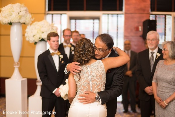 Ceremony in Beltsville, MD Indian Fusion Wedding by Brooke Tyson Photography