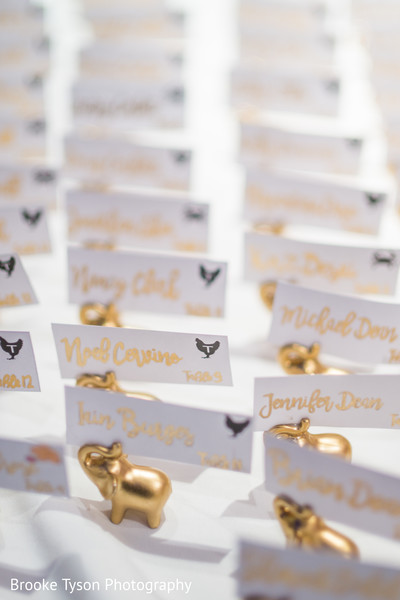 Escort Cards in Beltsville, MD Indian Fusion Wedding by Brooke Tyson Photography