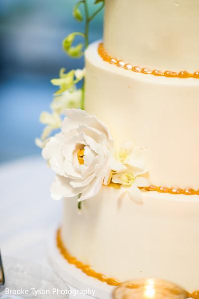 Wedding Cake in Beltsville, MD Indian Fusion Wedding by Brooke Tyson Photography