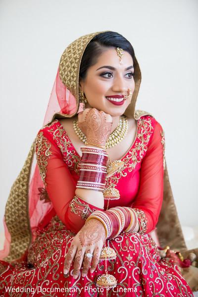 Indian bridal portrait in San Jose, CA Sikh Wedding by Wedding Documentary Photo + Cinema