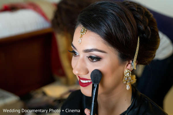 Indian bride getting ready in San Jose, CA Sikh Wedding by Wedding Documentary Photo + Cinema