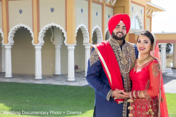 Indian wedding portraits in San Jose, CA Sikh Wedding by Wedding Documentary Photo + Cinema