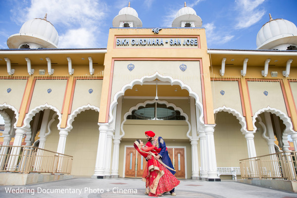 Indian wedding portraits in San Jose, CA Sikh Wedding by Wedding Documentary Photo + Cinema