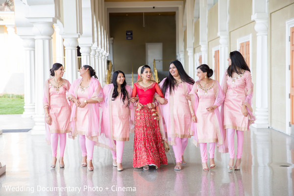 Indian bridal party portraits in San Jose, CA Sikh Wedding by Wedding Documentary Photo + Cinema