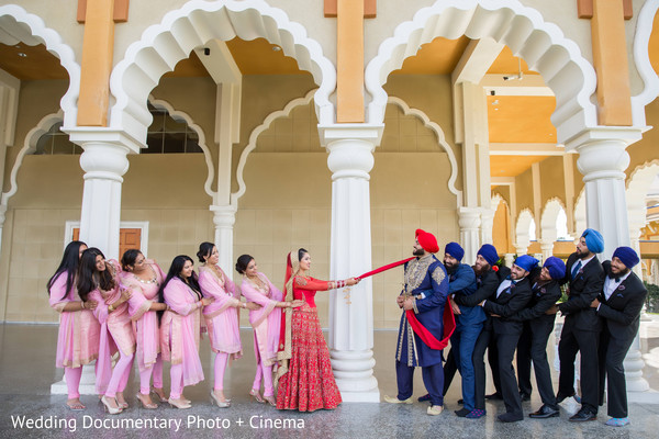 Indian wedding party portraits in San Jose, CA Sikh Wedding by Wedding Documentary Photo + Cinema