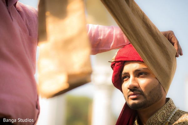 Groom Getting Ready in Gujarat, India Hindu Wedding by Banga Studios