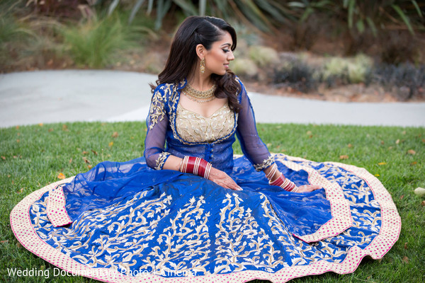 Portrait of indian bride in San Jose, CA Sikh Wedding by Wedding Documentary Photo + Cinema
