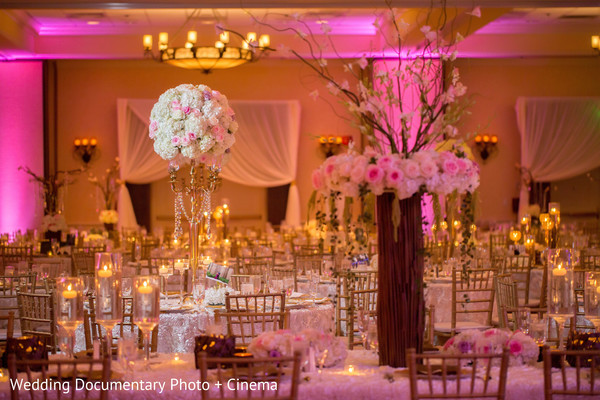 Indian wedding reception floral and decor in San Jose, CA Sikh Wedding by Wedding Documentary Photo + Cinema