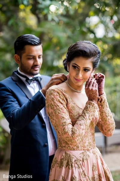 Reception Portrait in Gujarat, India Hindu Wedding by Banga Studios