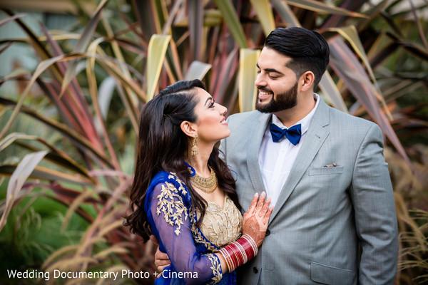 Indian wedding reception portrait in San Jose, CA Sikh Wedding by Wedding Documentary Photo + Cinema