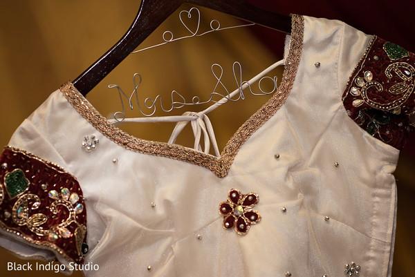 Bridal lengha in New Orleans, LA Indian Wedding by Black Indigo Studio