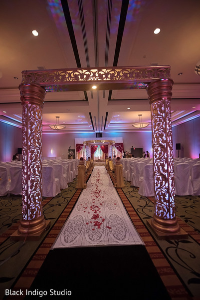 Indian wedding ceremony decor in New Orleans, LA Indian Wedding by Black Indigo Studio