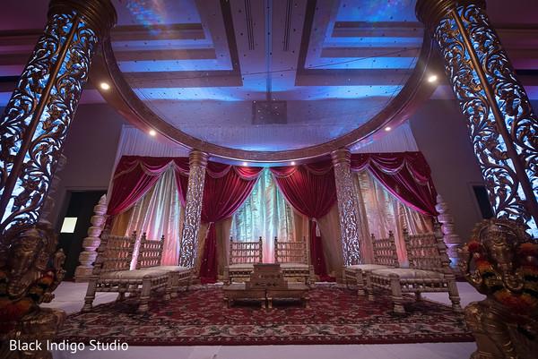 Indian wedding ceremony decor in New Orleans, LA Indian Wedding by Black Indigo Studio
