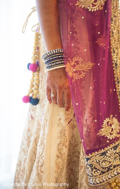 Bridal Fashion in Key Largo, FL Indian Fusion Wedding by Jannette De Llanos Photography