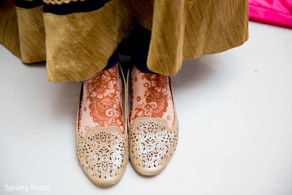 Mehndi design in Chicago, IL Indian Fusion Wedding by Sprung Photo