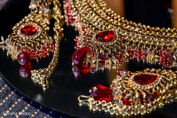 Indian bridal jewelry in Chicago, IL Indian Fusion Wedding by Sprung Photo