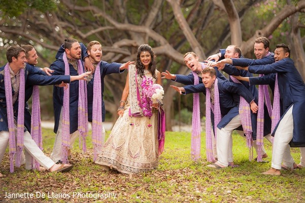 Groomsmen in Key Largo, FL Indian Fusion Wedding by Jannette De Llanos Photography