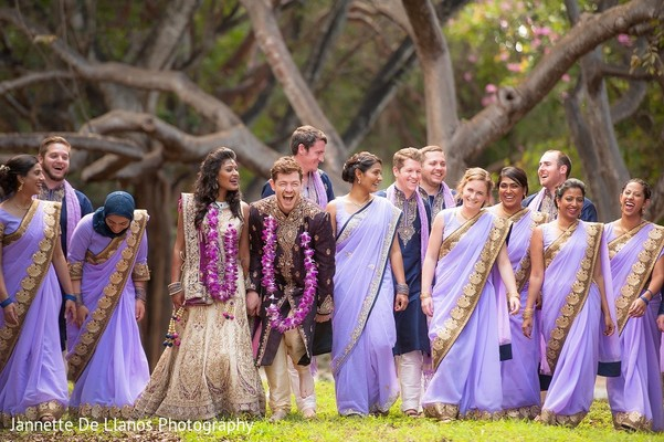 Wedding Party in Key Largo, FL Indian Fusion Wedding by Jannette De Llanos Photography