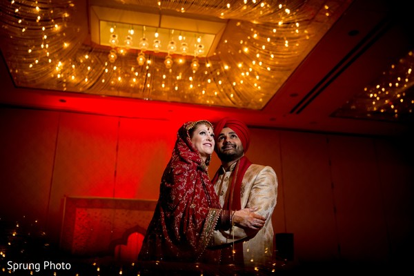Indian wedding portrait in Chicago, IL Indian Fusion Wedding by Sprung Photo
