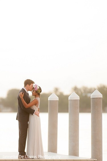 Reception Portrait in Key Largo, FL Indian Fusion Wedding by Jannette De Llanos Photography