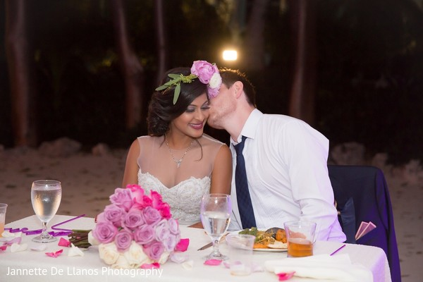 Reception in Key Largo, FL Indian Fusion Wedding by Jannette De Llanos Photography