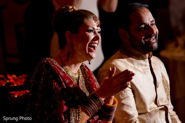 Indian wedding reception in Chicago, IL Indian Fusion Wedding by Sprung Photo