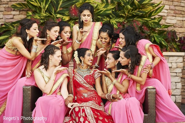 bridal party,bridesmaids,bridesmaids saris,bridesmaids sarees