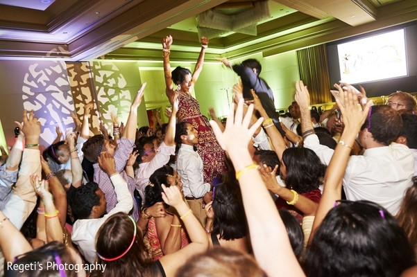 Reception in Leesburg, VA Indian Wedding by Regeti's Photography