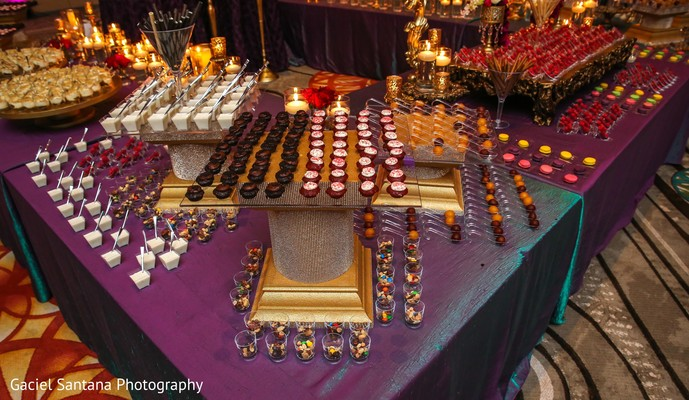 Dessert table in Kissimmee, FL Pakistani Wedding by Gaciel Santana Photography
