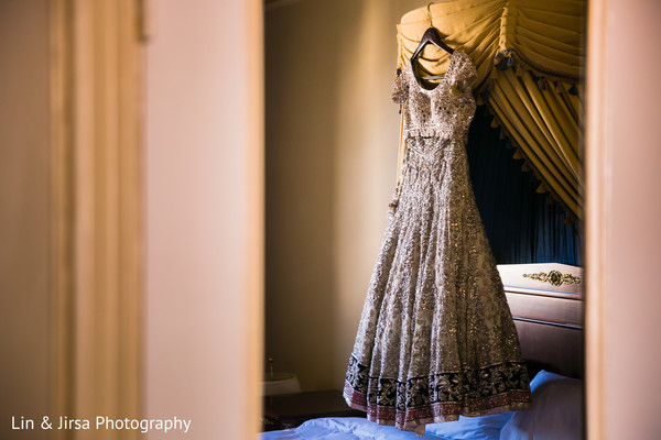 Wedding reception lengha in Los Angeles, CA Indian Wedding by Lin & Jirsa Photography