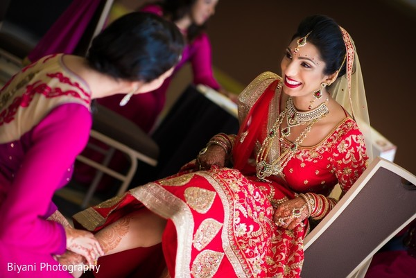Getting Ready in Montgomery, TX  Indian Wedding by Biyani Photography