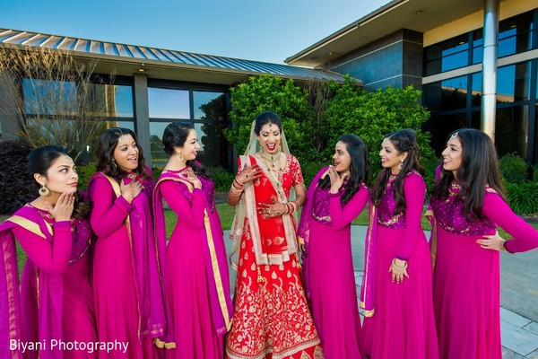 Bridal Party in Montgomery, TX  Indian Wedding by Biyani Photography