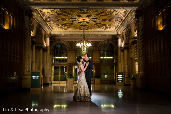 Reception portraits in Los Angeles, CA Indian Wedding by Lin & Jirsa Photography