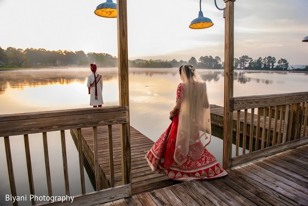First Look in Montgomery, TX  Indian Wedding by Biyani Photography