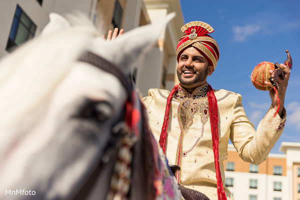Baraat in Dallas, TX Indian Wedding by MnMfoto