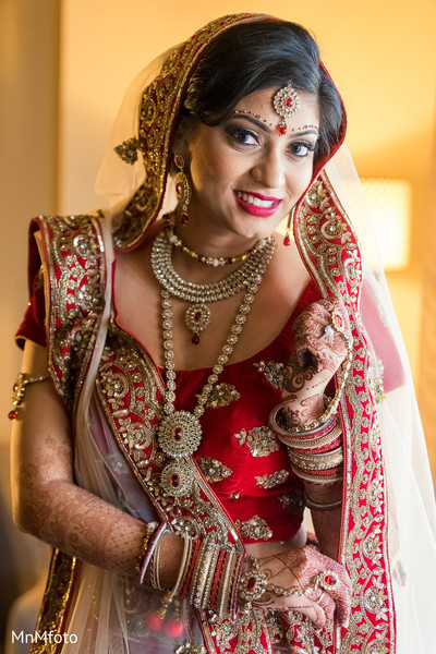 Indian bridal portrait in Dallas, TX Indian Wedding by MnMfoto