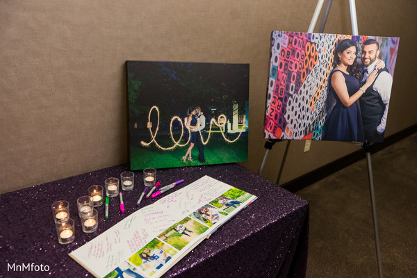 Indian wedding reception photo in Dallas, TX Indian Wedding by MnMfoto