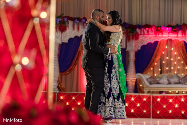 Indian wedding reception photo in Dallas, TX Indian Wedding by MnMfoto