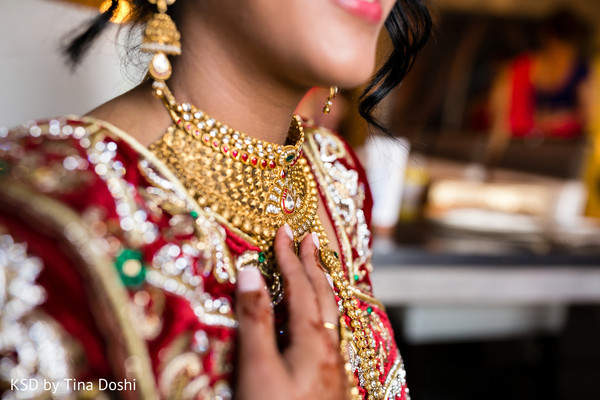 Getting Ready in Parsippany, NJ Indian Wedding by KSD Weddings