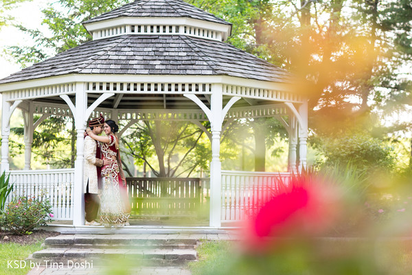 First Look in Parsippany, NJ Indian Wedding by KSD Weddings