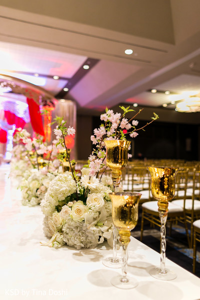 Ceremony Decor in Parsippany, NJ Indian Wedding by KSD Weddings