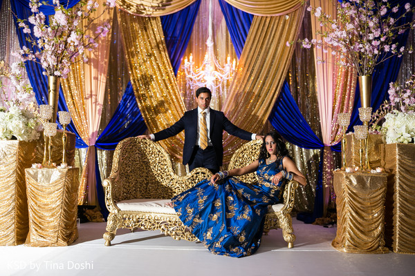 Reception Portrait in Parsippany, NJ Indian Wedding by KSD Weddings