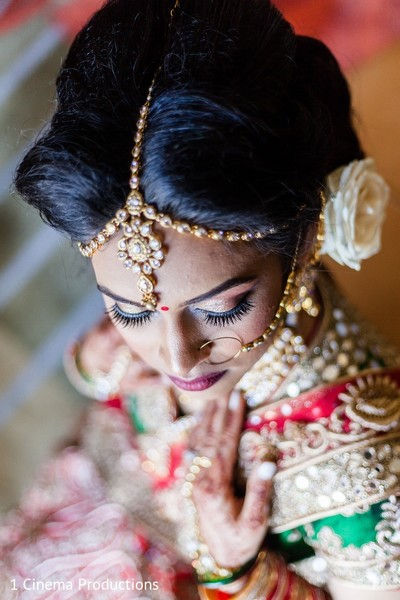 Makeup & Jewelry in Dallas, TX Indian Wedding by 1 Cinema Productions