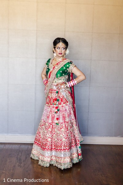 Bridal Fashion in Dallas, TX Indian Wedding by 1 Cinema Productions