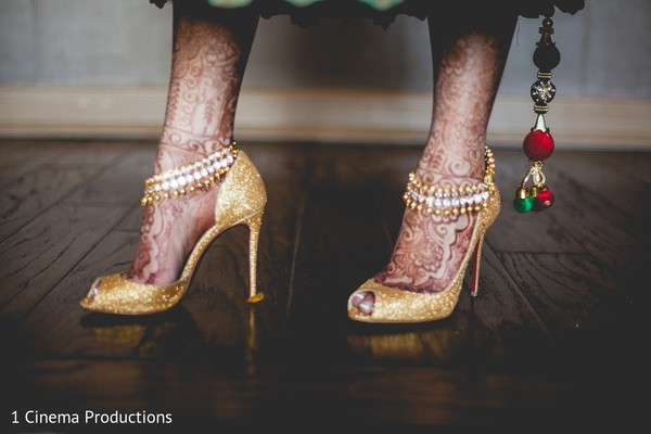 Shoes & Jewelry in Dallas, TX Indian Wedding by 1 Cinema Productions