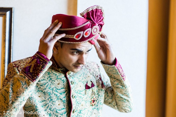 Groom Getting Ready in Dallas, TX Indian Wedding by 1 Cinema Productions