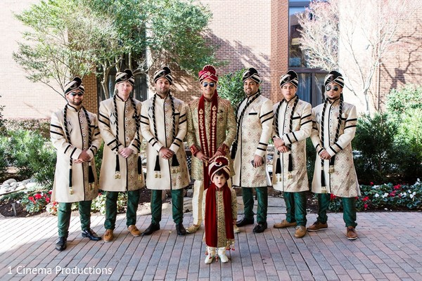 Groomsmen in Dallas, TX Indian Wedding by 1 Cinema Productions