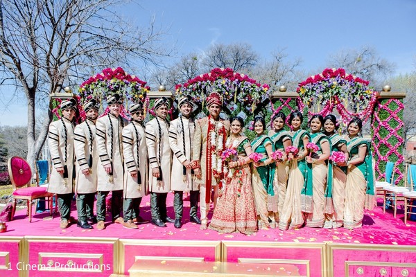 Wedding Party in Dallas, TX Indian Wedding by 1 Cinema Productions